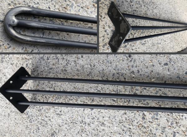 Pieds artisanaux en acier