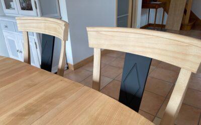 Rénovation table à manger plus chaises !