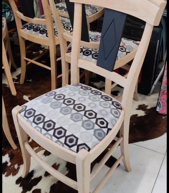 Rénovation de 4 chaises !